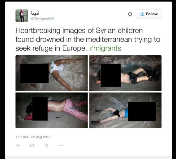syrian children drowned censored