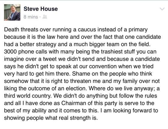 steve house death threats