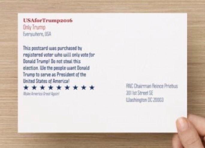 trump postcard to rnx