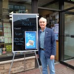 SOOP Author Eric Mondschein Smiles with His Signage