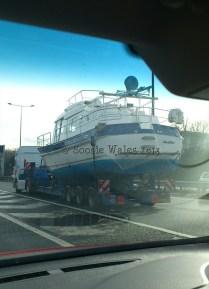 Hauling a boat