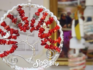 Red coral tree of life