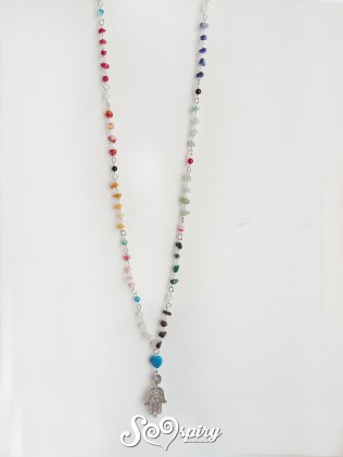 collana arcobaleno wire gemstone rainbow necklace6