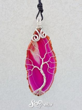 albero-della-vita-argentato-wire-wrap-su-fetta-di-agata-fucsia-silver-copper-wire-wrapped-tree-of-life-on-pink-agate-slice