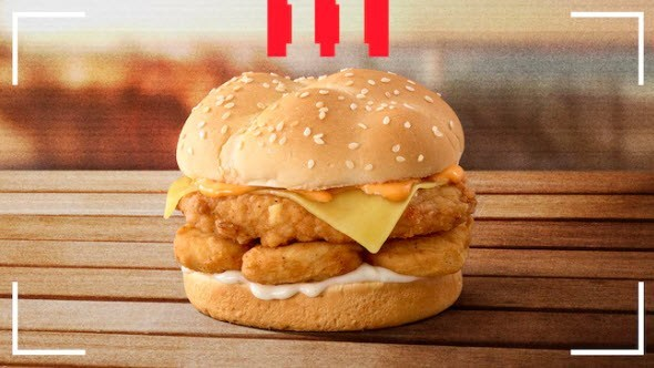 KFC Secret Chicken Nugget Burger