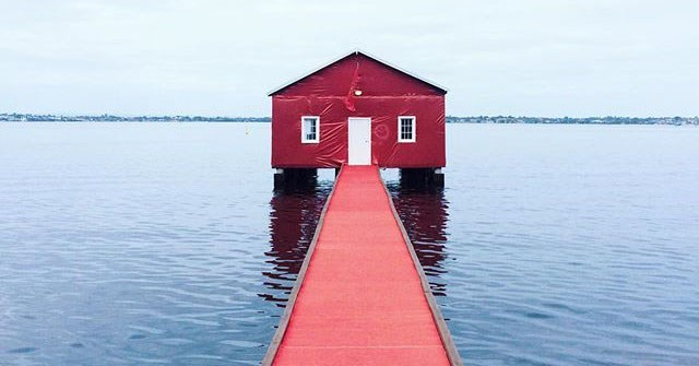 crawley boat shed turns red