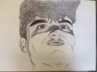 black biro on paper