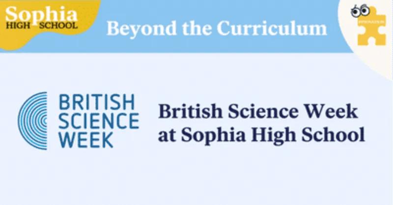 British Science Week at Sophia High School