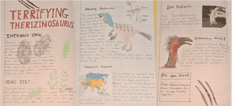 Dinosaurs Student Work