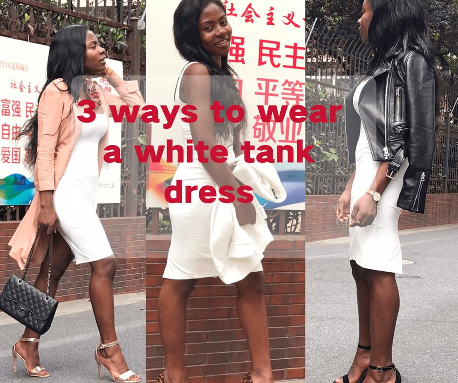 how to wear an tank dress