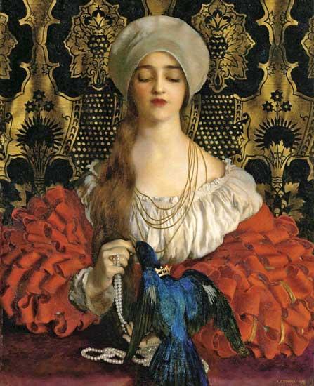 The Blue Bird, by Frank Cadogan Cowper (1877-1958).