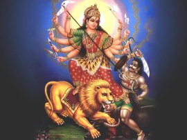 Maha Durga Vanquishing the Demons