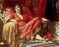 Leila, by Frank Dicksee, 1853-1928 (Image courtesy WikiCommons)