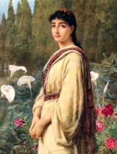 The Eastern Lily, by Edwin Long (1829-1891). The lily has long been one symbol associated with Magdalene, and the Divine Feminine in many times and traditions.
