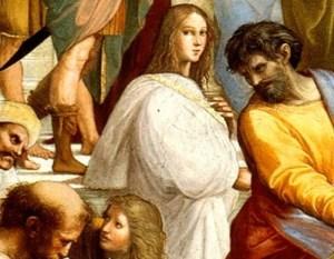 The School of Athens (Detail) - Hypatia (1509-1510), by Raffaello Santi
