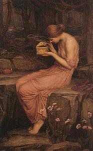Psyche Opening the Golden Box, 1903, by John William Waterhouse. Public domain image courtesy of Wikimedia.