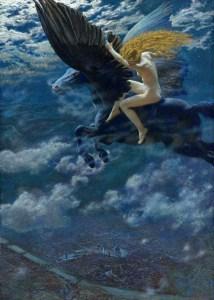 Dream Idyll - A Valkyrie, 1902, by Edward Robert Hughes.