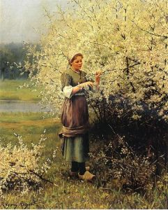 Spring Blossoms, by Daniel Ridgway Knight (1839-1924). Image courtesy of WikiCommons.