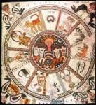 Beth Alpha Zodiac, 6th Century Mosaic, Biblical Archaeology. Image courtesy of Wikimedia.