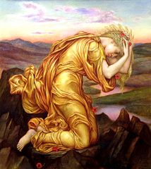 Demeter Mourning for Persephone, 1906, by Evelyn de Morgan.