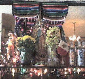 The Virgin of Guadalupe altar in one of my favorite Mexican restaurants in San Francisco's Mission District. Photo by Jamie Walters. If you borrow it, include the source attribution and a link to this page. Merci!