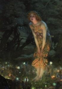 Midsummer Eve, c. 1908, Edward Robert Hughes. (Image courtesy of WikiMedia)
