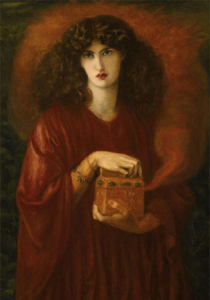 Pandora's Box, 1871, by Dante Gabriel Rossetti. Public domain image courtesy of Wikimedia. What's the *real* truth about Pandora's Box? See the link at the end of this post.
