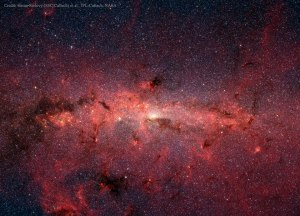 The Galactic Center. Image from Susan Stolovy (SSC/Caltech) et al., JPL-Caltech, NASA.
