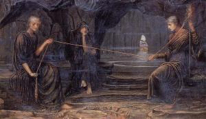 The Golden Thread (detail), 1885, by John Strudwick. Public domain image courtesy of Wikimedia.