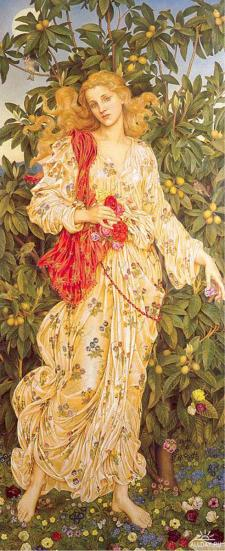 Flora, 1894, by Evelyn Pickering De Morgan Public domain image courtesy of WikiCommons.