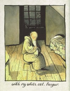 Illustration by Sidney Smith for The White Cat and The Monk (Anansi Press - see link below).