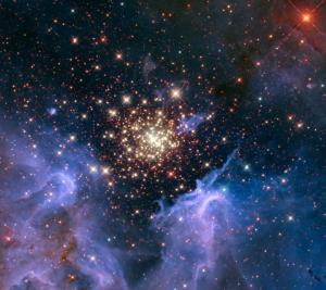 NGC 3603, NASA-Hubble. Virginia/INAF, Bologna, Italy/USRA/Ames/STScI/AURA. PD-US.