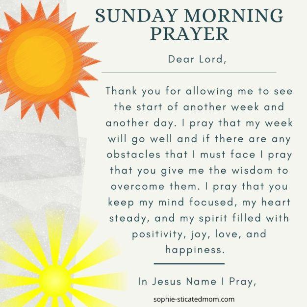 morning prayers sunday