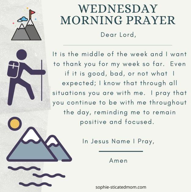 morning prayers wed