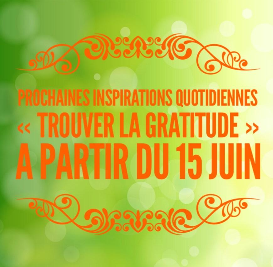 inspirations quotidiennes le pouvoir de la gratitude