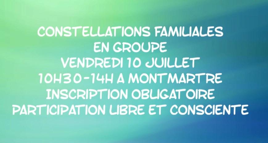 Constellation familiale vendredi 10 juillet