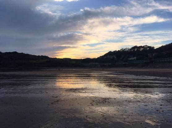 Walking back from Rotherslade to Langland Bay