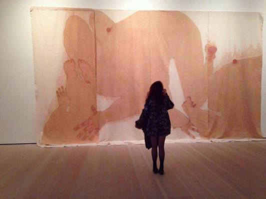"""Myself in front of Seung Ah Paiks' """"Autolandscape"""""""