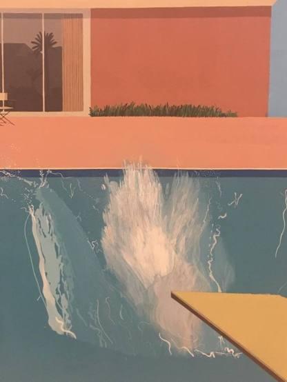 """Close up of David Hockeys' """" A Bigger Splash"""""""
