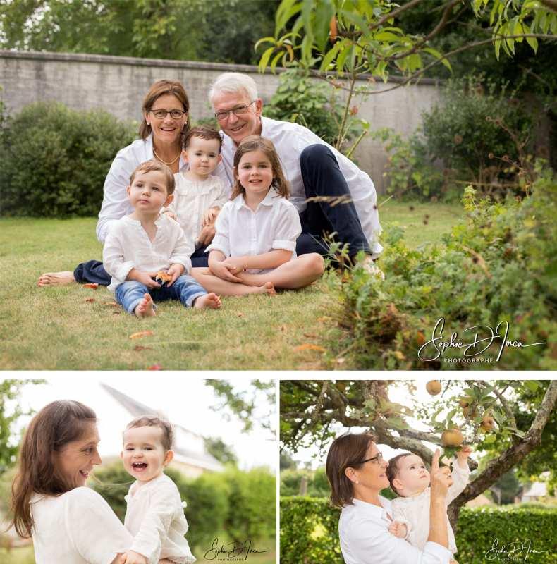 Séance photo famille extérieur Sophie D'inca Photographe Malestroit Morbihan 56