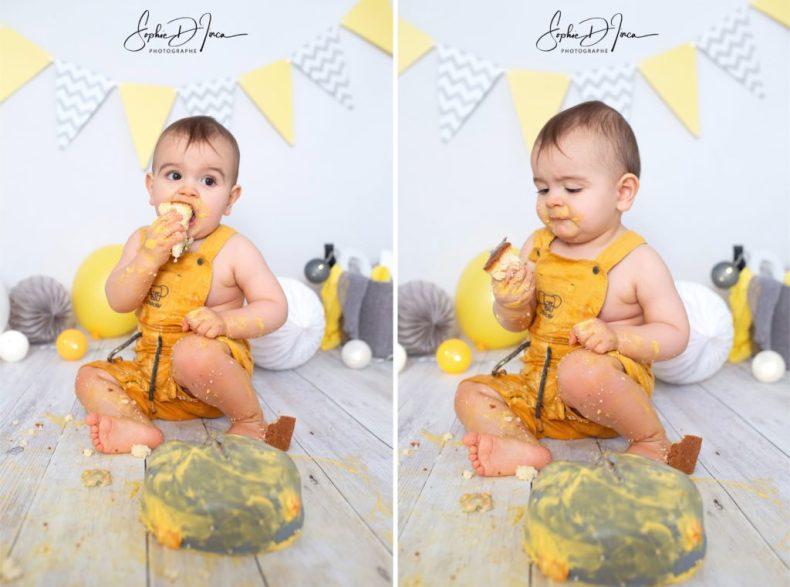 séance photos smash the cake Sophie D'inca Photographe Malestroit 56