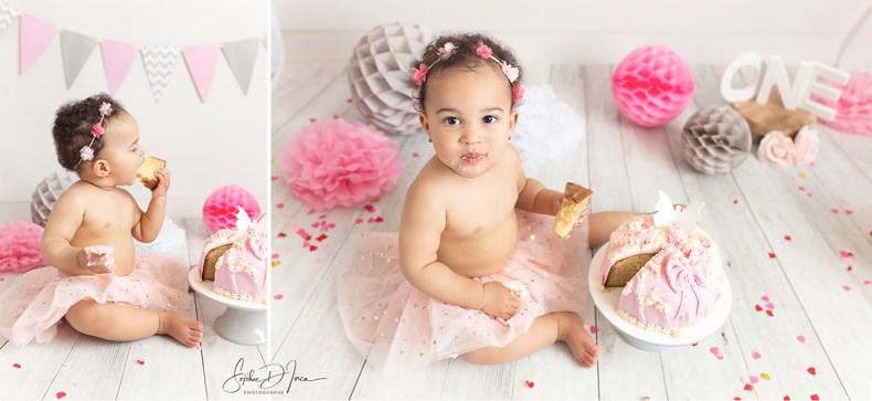 séance-photos-anniversaire-fille-gris et rose