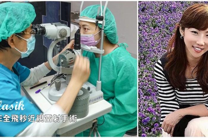 白佳欣眼科-微創SMILE全飛秒近視雷射手術經驗分享