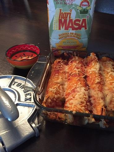Enchiladas met gehakt en paprika