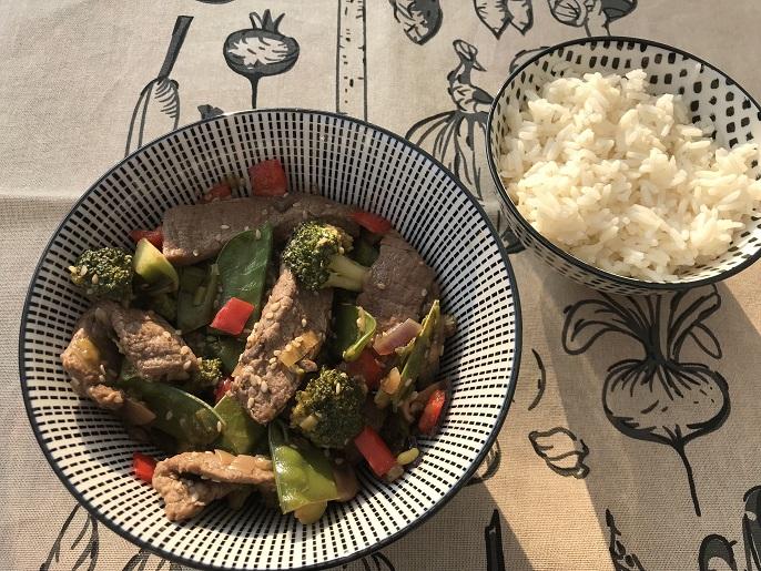 Beef teriyaki, gluten- en lactosevrij