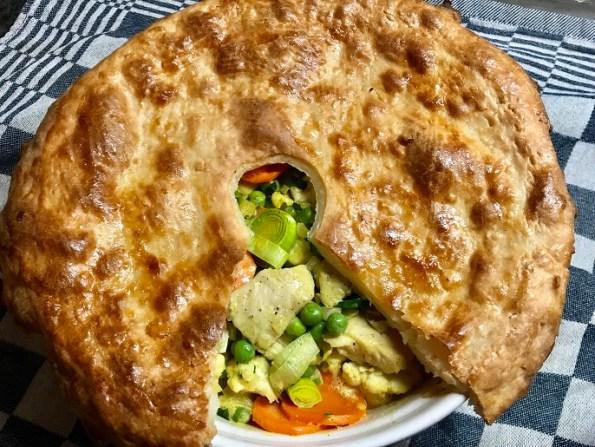 Romige kip en groenten pie