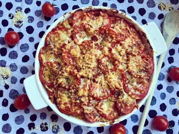 Ovenpasta met tomaat, broccoli en champignons