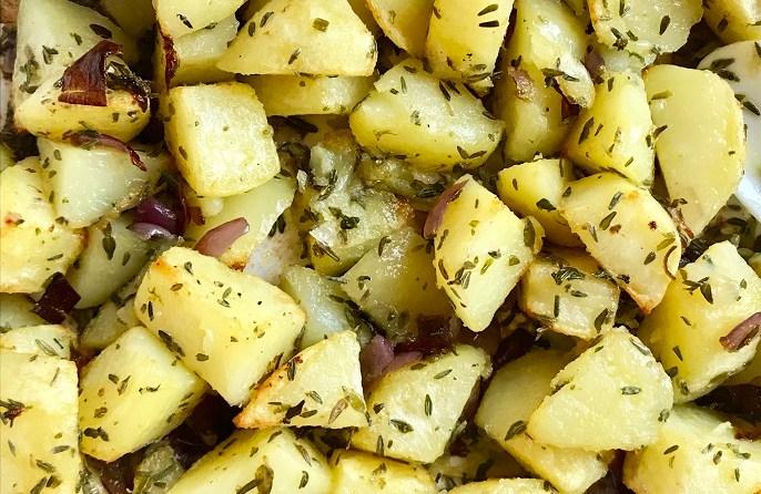tijm-knoflook aardappeltjes