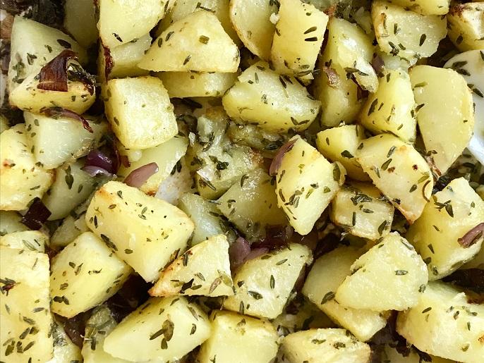 Tijm-knoflook aardappeltjes uit de oven