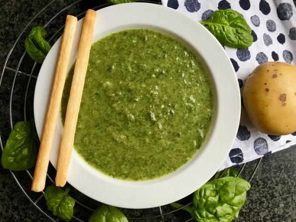 spinazie-broccoli soep